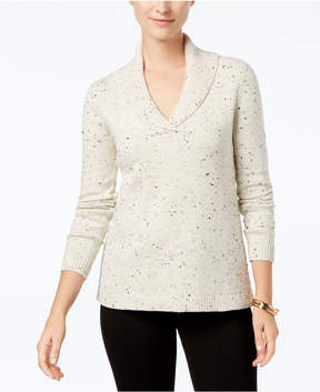 Charter Club Metallic Donegal Sweater, Created for Macy's