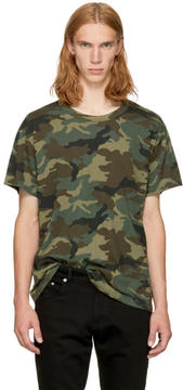 Amiri Green Camo Shotgun T-Shirt