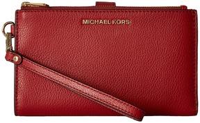 MICHAEL Michael Kors Adele Double-Zip Wristlet 7+ Wristlet Handbags - BURNT RED - STYLE