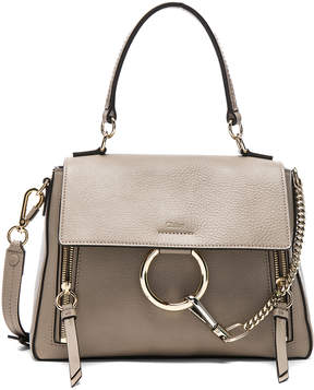 Chloé Small Faye Calfskin & Suede Day Bag