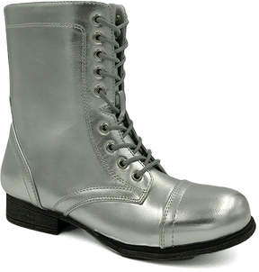 Bamboo Silver Surprise Lace-Up Boot - Women