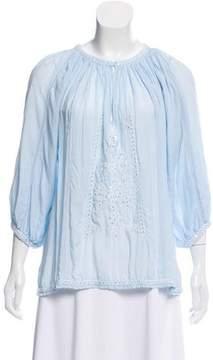 Melissa Odabash Embellished Long Sleeve Top