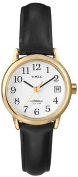 Timex Women's Easy Reader Watch, Black Leather Strap