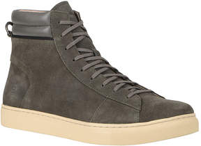 Andrew Marc Gunmetal & Cream Remsen Suede Hi-Top Sneaker - Men