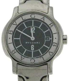 Bulgari Bvlgari Solotempe St 29 S Stainless Steel Black Dial Bracelet Watch