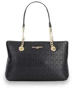 Karl Lagerfeld Quilted Lamb Leather Tote Bag