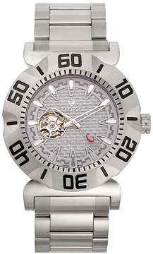 Croton Mens Silvertone Silver Dial Bracelet Watches