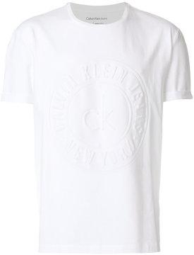 Calvin Klein Jeans logo embossed T-shirt