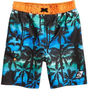 Trunks Laguna California Palms-Print Swim Trunks, Toddler Boys & Little Boys