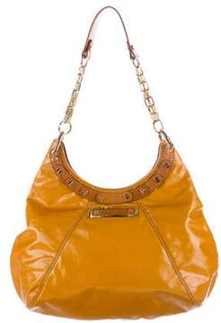 Tory Burch Leather-Trimmed Brewster Hobo - YELLOW - STYLE