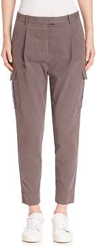 Eleventy Women's Solid Cargo Pants - Cocoa, Size 30 (8-10)