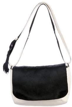 Clare Vivier Ponyhair-Trimmed Shoulder Bag