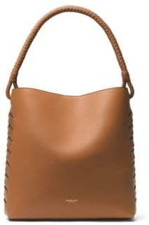 Michael Kors Loren Leather Shoulder Bag - ACORN - STYLE