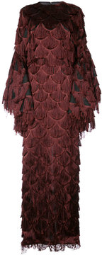 Christian Siriano fish scale fringed gown