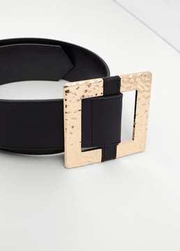Mango Outlet Metal buckle belt