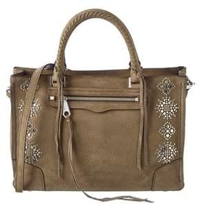 Rebecca Minkoff Regan Leather Satchel. - OLIVE - STYLE