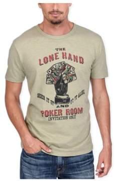 Lucky Brand Mens Lone Hand Poker Graphic T-Shirt Green M