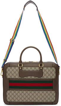 Gucci Beige GG Supreme Echo Briefcase