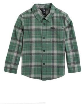 Volcom Boy's Caden Plaid Flannel Shirt