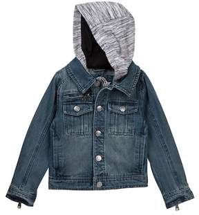 Urban Republic Washed Denim Jacket with Fleece Hood (Toddler & Little Boys)