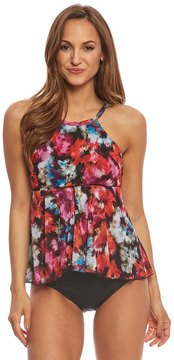 Fit 4 U Fit4U Flamenca Mesh High Neck Tankini Top 8155881