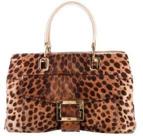 Roger Vivier Animal Print Ponyhair Bag