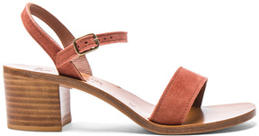 K. Jacques Suede Alegria Sandals in Pink.