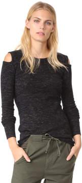 Current/Elliott The Melange Cutout Sweatshirt