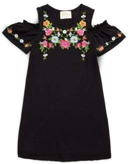 Hannah Banana Girl's Floral Embroidered Dress