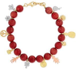 Carolina Bucci Recharmed Lucky 18-karat Yellow, Rose And White Gold And Agate Bracelet