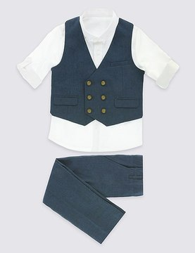 Marks and Spencer 3 Piece Waistcoat Outfit (3 Months - 5 Years)