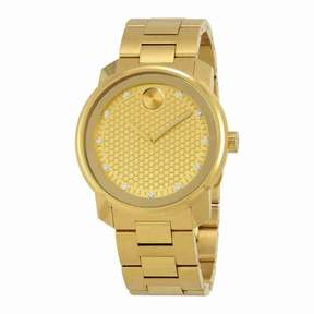 Movado Bold Yellow Gold Diamond Dial Men's Watch 3600374