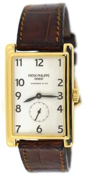 Patek Philippe Patek Phlippe Gondolo 5009J 18K Yellow Gold & Leather Manual 25mm Mens Watch