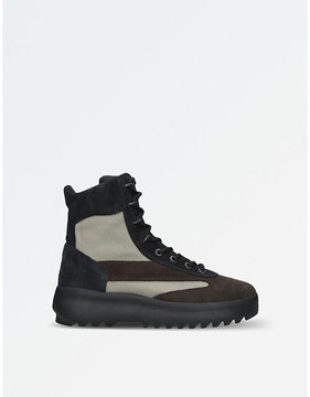 Yeezy Season 5 leather and nylon military boots