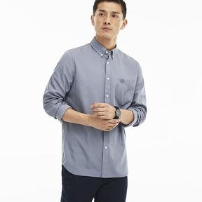 Lacoste Men's Regular Fit Polka Dot Jacquard Poplin Shirt