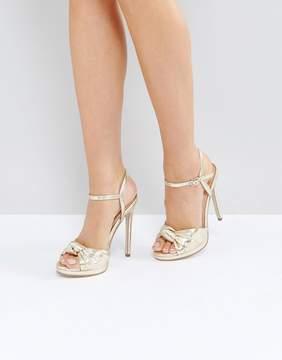 Office Hold Tight Gold Platform Sandals