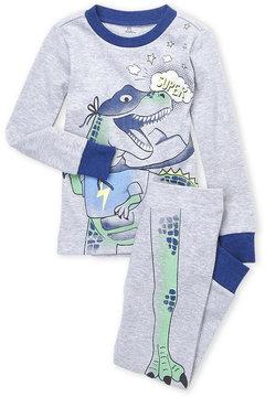 Petit Lem Toddler Boys) Two-Piece Dinosaur PJ Top & Pants Set