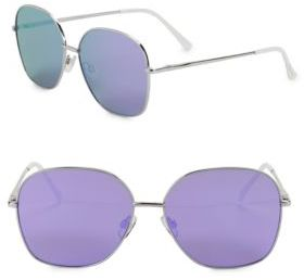 Sam Edelman 57MM Mirrored Aviator Sunglasses