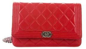 Chanel Quilted Boy Wallet On Chain