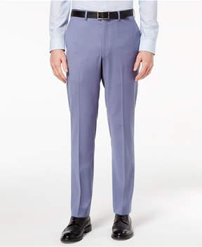 DKNY Men's Modern-Fit Stretch Blue Suit Pants