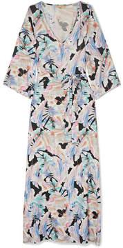 Melissa Odabash Becky Belted Printed Voile Maxi Dress - Blue