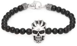 Effy Black Onyx and Sterling Silver Skull Bracelet