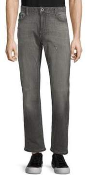 Calvin Klein Jeans Straight-Fit Distressed Jeans