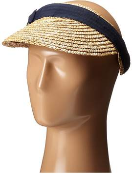 San Diego Hat Company WSV0005 4 Inch Brim Straw Clip On Visor with Bow Casual Visor