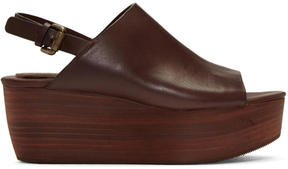 See by Chloe Brown Romy Platform Sandals