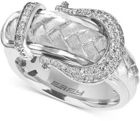 Effy Diamond Belt Buckle Ring (1/5 ct. t.w.) in Sterling Silver