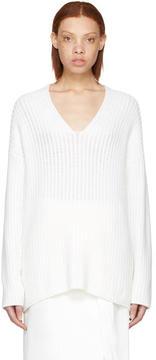 Calvin Klein Collection White Cashmere Etienne Sweater