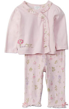 Laura Ashley Girls' 2Pc Kimono And Pant Set