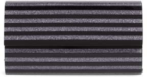 Nordstrom Glitter Stripe Lucite(R) Clutch