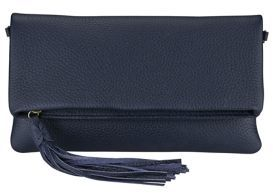 GiGi New York Stella Pebbled Leather Convertible Fold-Over Clutch